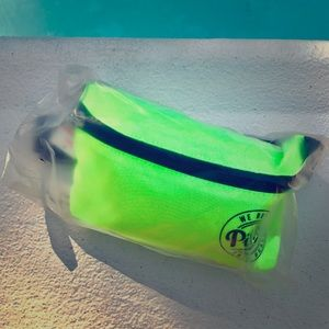 NWT Victoria's Secret PINK Neon Yellow Fanny Pack
